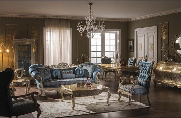 Klasik dekore edilmiş salonlar