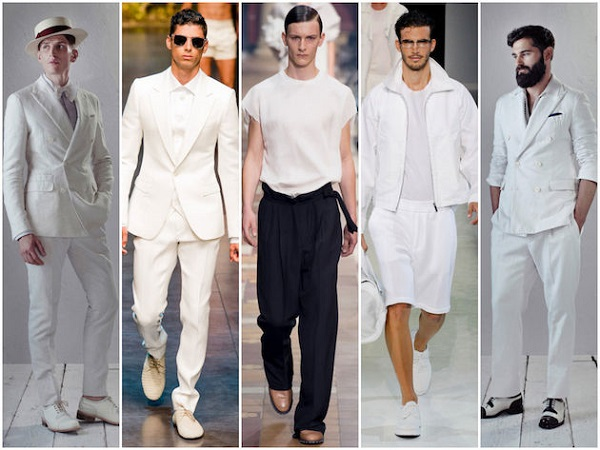 erkek modasında beyazın ayrıcalığı