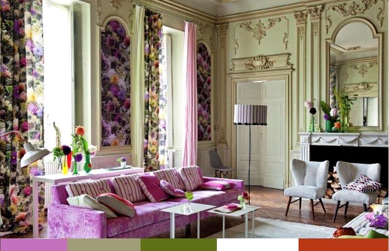 pastel renklerde dekorasyon